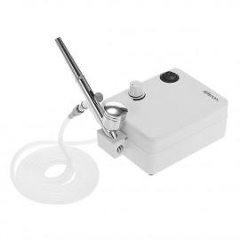 Aerógrafo Mini Compresor Blanco